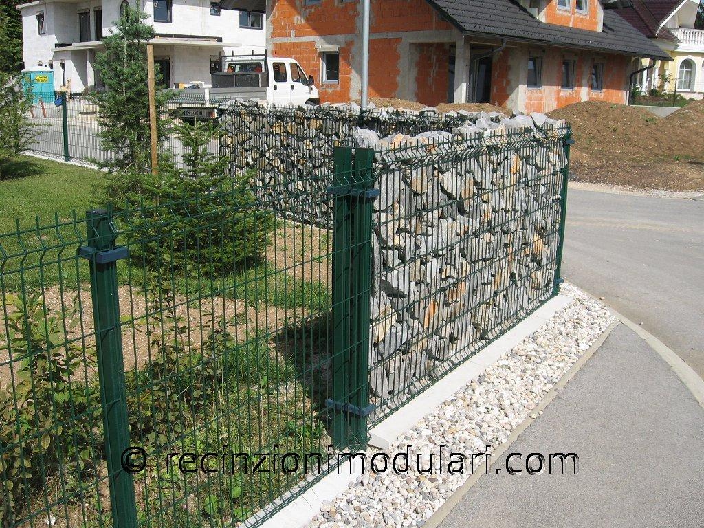 Galleria recinto di pietra stretta recinzioni modulari - Recinti in legno da giardino ...