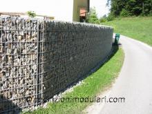 Gabbioni 5 - lato della strada, parete insonorizzata