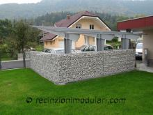 Gabbioni 1 - garage e tetto, giardino