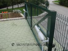 Cancelli a due anti 2 - porta guidato elettrico, viale, recinzioni e strada