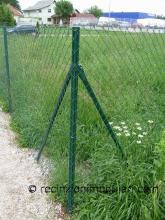 Recinzione del reticolato 6 - filo metallico, campo o giardino